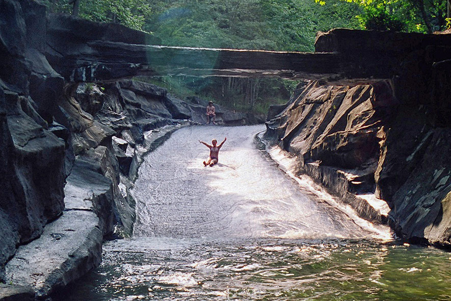Natural Water Slide Big Canoe